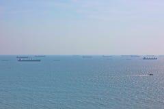 Maritim trafik i Arabianet Sea fotografering för bildbyråer