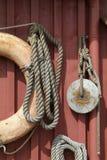 maritim vägg för utrustning Royaltyfri Foto