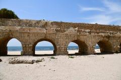 罗马渡槽凯瑟里雅Maritima以色列 库存照片