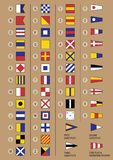 Maritima signalflaggor vektor illustrationer
