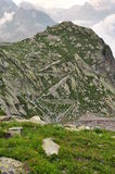 Maritime Alps, Italy. Military road Royalty Free Stock Photo