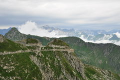 Maritime Alps, Italy. Military road Royalty Free Stock Photography