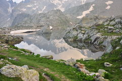 Maritime Alps, Italy. Mountain lake Royalty Free Stock Photography