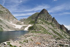 Maritime Alps, Italy. Mountain lake Royalty Free Stock Photo