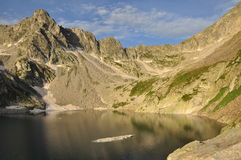Maritime Alps, Italy. Mountain lake Stock Images