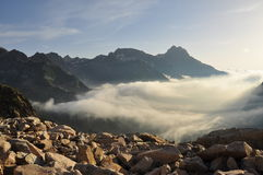 Maritime Alps landscape by sunrise, Italy Stock Images