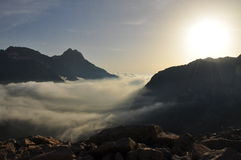 Maritime Alps landscape by sunrise, Italy Stock Photography