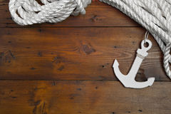 Maritime Anchor Decoration Royalty Free Stock Photos