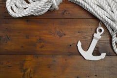 Maritime Anchor Decoration. Cruise - Lifeline Royalty Free Stock Photos