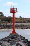 Maritime beacon in the Goyen channel in Audierne Royalty Free Stock Images