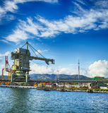 Maritime bulk terminal Royalty Free Stock Photo