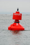 Maritime Buoy. A red port hand navigational buoy Stock Image
