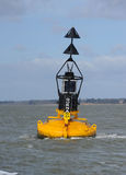 Maritime Buoy. A north cardinal marker navigational buoy from the international IALA navigational system Royalty Free Stock Photos