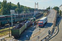 Maritime cargo port of Odessa Royalty Free Stock Photo