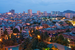 Maritime city in the evening Royalty Free Stock Image