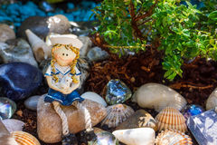 Maritime decoration in garden Royalty Free Stock Images