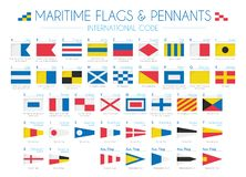 Free Maritime Flags And Pennants International Code Vector Illustration Royalty Free Stock Photography - 165260487