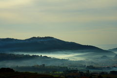 Maritime fog. In provence (france) in the morning Royalty Free Stock Photos