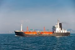 Maritime fuel transportation on the sea, Sea freight, Business l Stock Images
