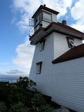 Maritime House. Former lighthouse on the east coast of Canada stock photos