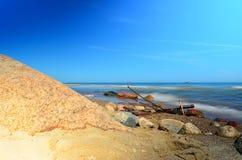 Maritime landscape. Coast of the Baltic Sea in Poland Stock Image