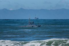 Maritime law enforcement on patrol stock image