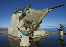 Maritime Monument, Punta Arenas, Chile. Maritime Monument on the historic waterfront of Punta Arenas running along the Magellan Strait in Patagonia, Chile Stock Photos