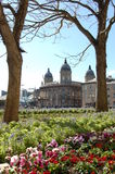 Maritime Museum. A photo of Maritime Museum in Hull through trees and flowers Stock Photo