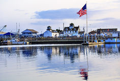 Maritime Museum Flag Westport Grays Harbor Washington State royalty free stock photo