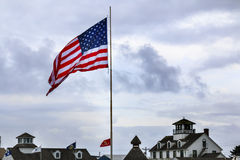Maritime Museum Flag Westport Grays Harbor Washington State Stock Photo