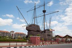 Maritime Museum in the form of a sailing ship Stock Images