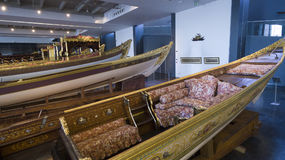 Maritime Museum in Istanbul stabbing ancient boats Turkish sultans Stock Photos