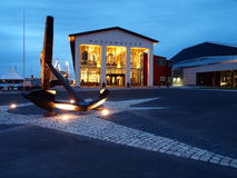 Maritime Museum in Karlskrona. Maritime Museum in Karlskrona in the evening scenery .. One of the most interesting sights of the Swedish city Royalty Free Stock Photo