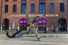 Maritime museum in Liverpool, Enlgland. LIVERPOOL, UK - JULY 24, 2014: Merseyside Maritime Museum in the Albert Dock on the banks of the River Mersey Royalty Free Stock Image
