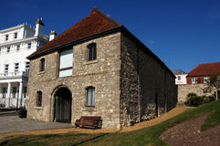 Maritime Museum, Southampton. The 14th century Wool House in Southampton which is now the City's Maritime Museum. During the Napoleonic Wars, French prisoners Stock Photos