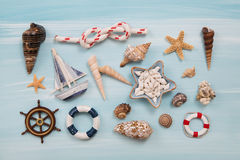 Maritime and nautical decoration for traveling concepts. Stock Photo