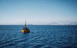 Maritime navigation. Baken in the Red Sea Stock Photography
