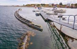 Maritime on the Norwegian fjord Stock Photos
