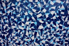 Maritime ornamentation, agglutination, mosaic, from tile. Marine ornamentation, agglomeration, mosaic, from tile. Various shades of blue Royalty Free Stock Photos