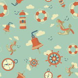 Maritime pattern Royalty Free Stock Images