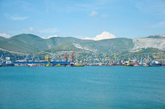 Maritime  port at Novorossiysk, Moscow Royalty Free Stock Image