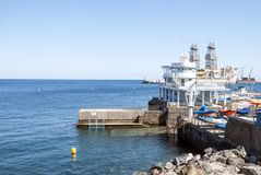 Maritime port of Santa Cruz de Tenerife stock photo