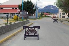 Maritime, prison et musée antarctique dans Ushuaia, Argentine images libres de droits