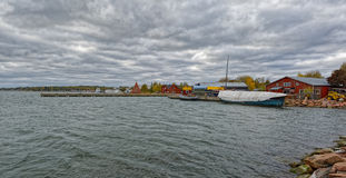 Maritime Quarter in Mariehamn, Aland islands Stock Image