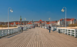 Maritime quay on  day Royalty Free Stock Images