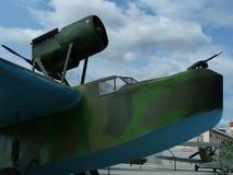 Maritime reconnaissance aircraft MBR-2. Closeup. Summer Stock Image