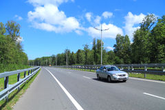 Maritime Ring - a highway in the Kaliningrad region. KULIKOVO, RUSSIA — JULY 21, 2014: 'Maritime Ring' - a highway in the Kaliningrad region. Summer, July Stock Photo