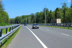 Maritime Ring - a highway in the Kaliningrad region. KALININGRAD, RUSSIA — JULY 21, 2014: Maritime Ring - a highway in the Kaliningrad region. Summer, July Stock Photography
