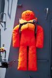 Maritime salvage. Rescue jacket on a ship Stock Photos