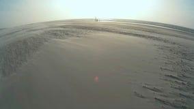 Maritime Scene on North Frisian Island Amrum stock footage
